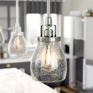 houon 1 light single bell pendant