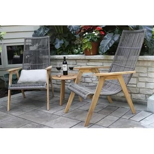 devair teak patio chair with cushions set of 2