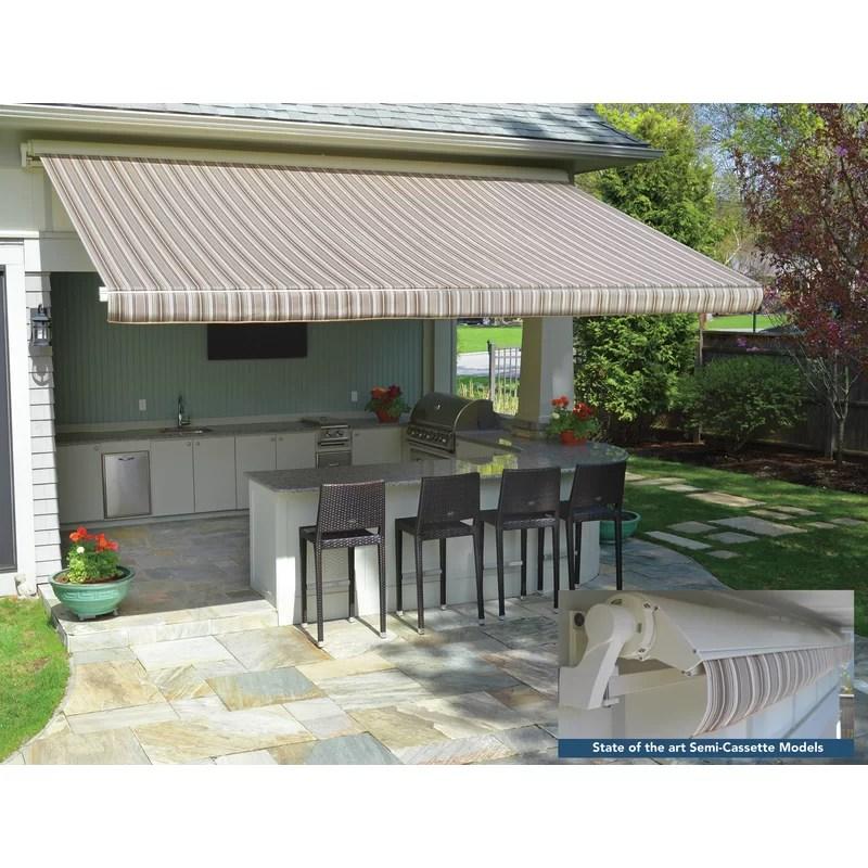sunsetter motorproxlsc sunbrella retractable standard patio awning