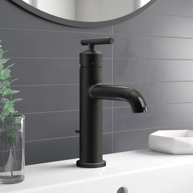 gibson single hole bathroom faucet with drain assembly