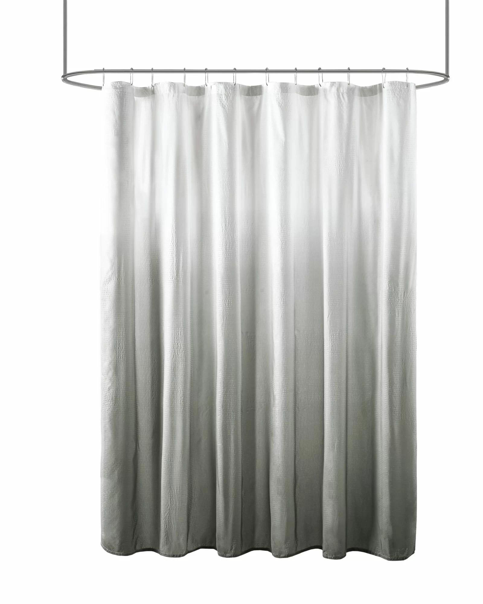willandra ombre printed seersucker abstract single shower curtain