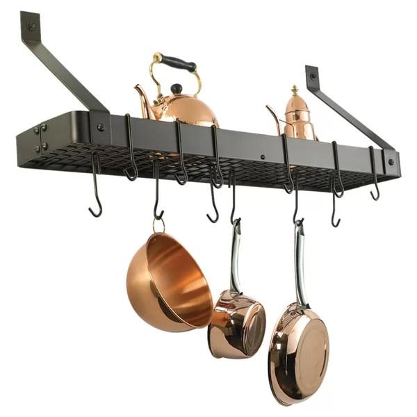 wall mounted pot racks