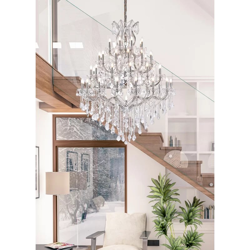 maria theresa 49 light candle style crystal tiered chandelier