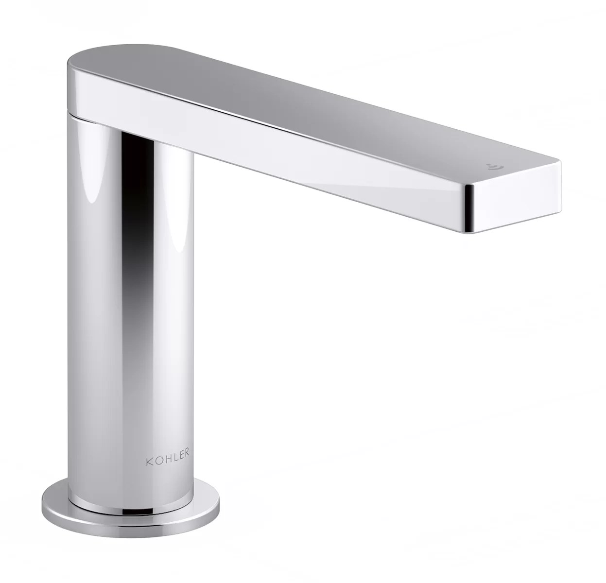 composed touchless bathroom sink faucet with kinesis sensor technology and mixer ac powered