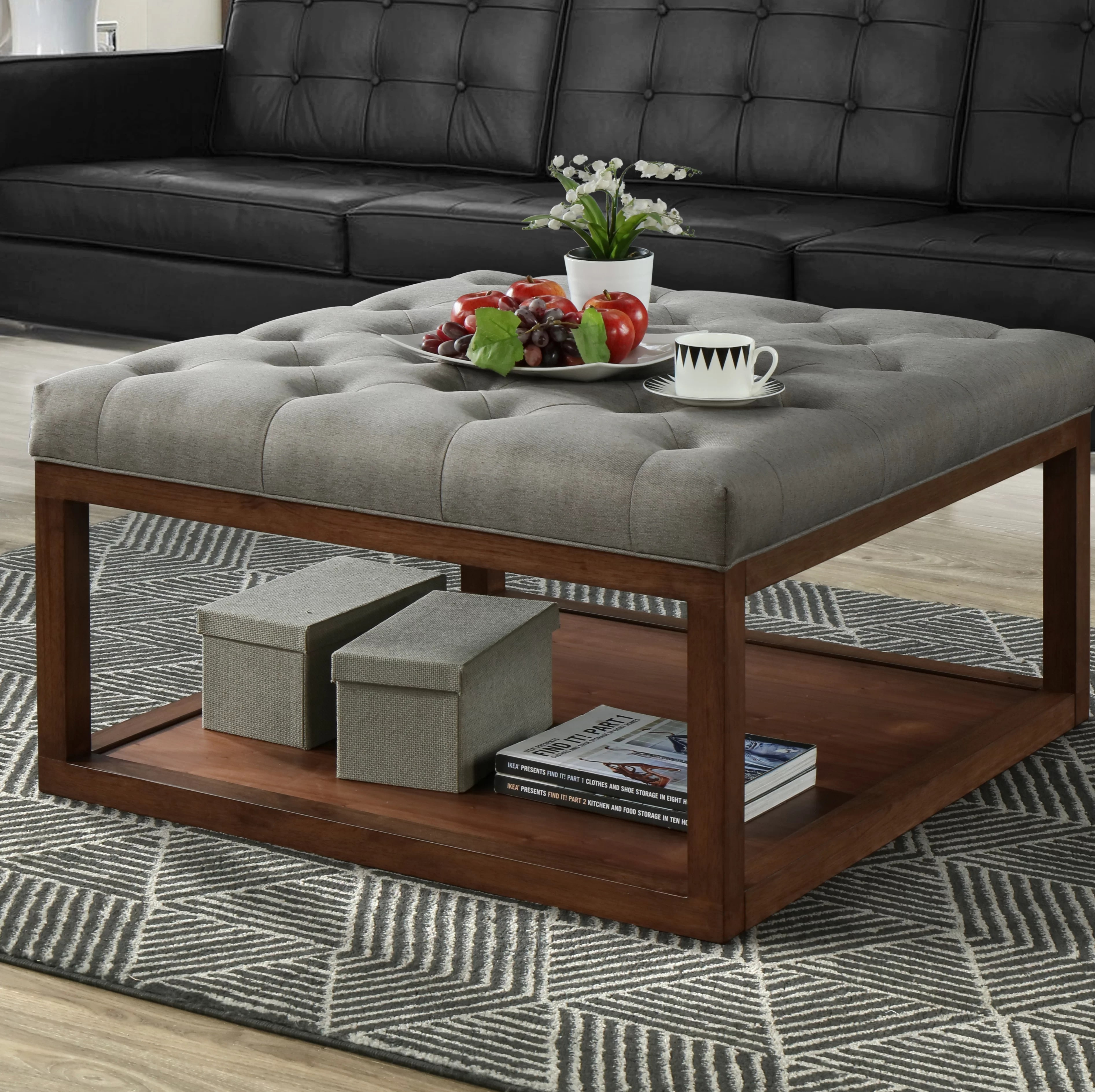 sagan 36 5 upholstered tufted square storage ottoman
