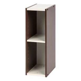 akron slim space saving shelving unit