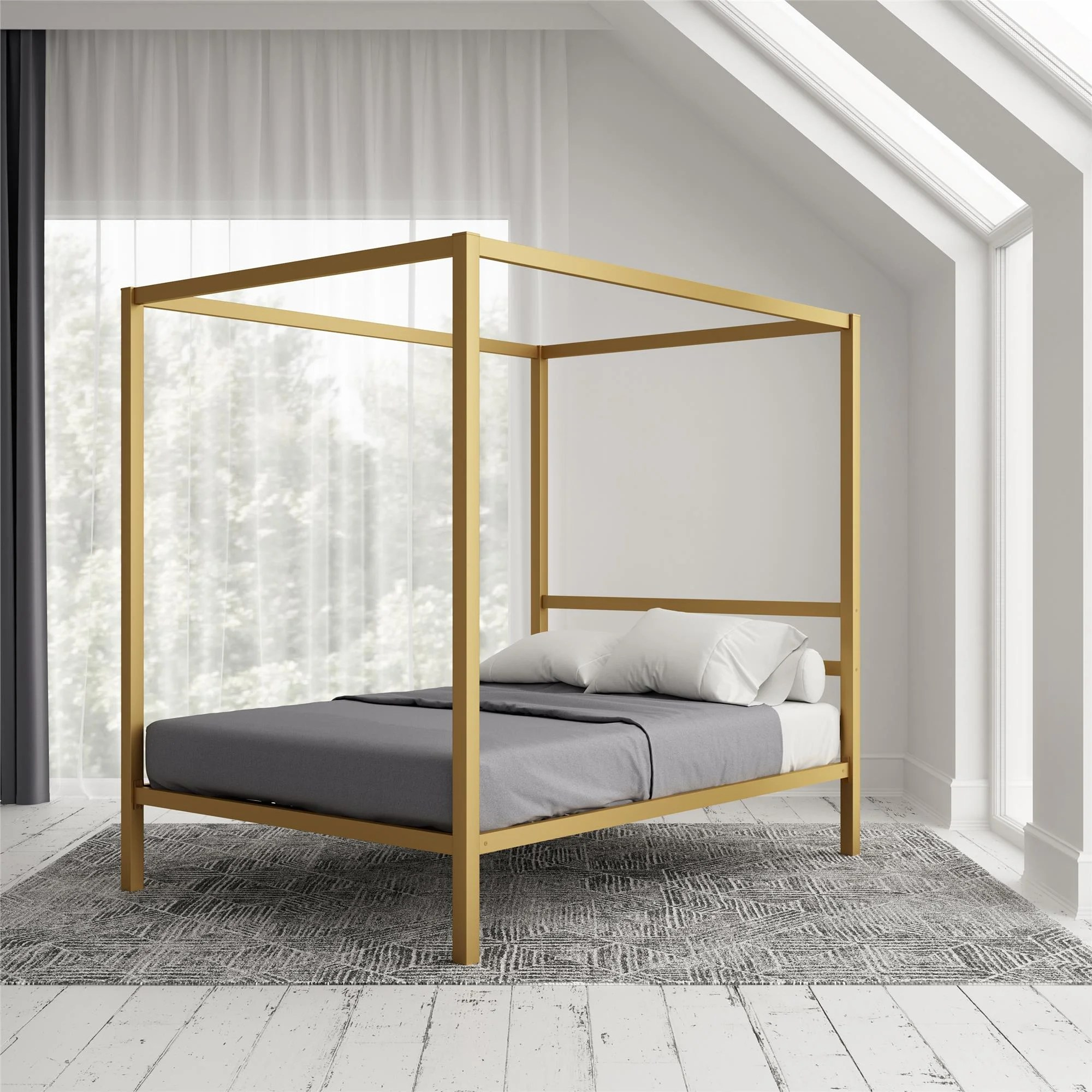 canopy gold beds free shipping over