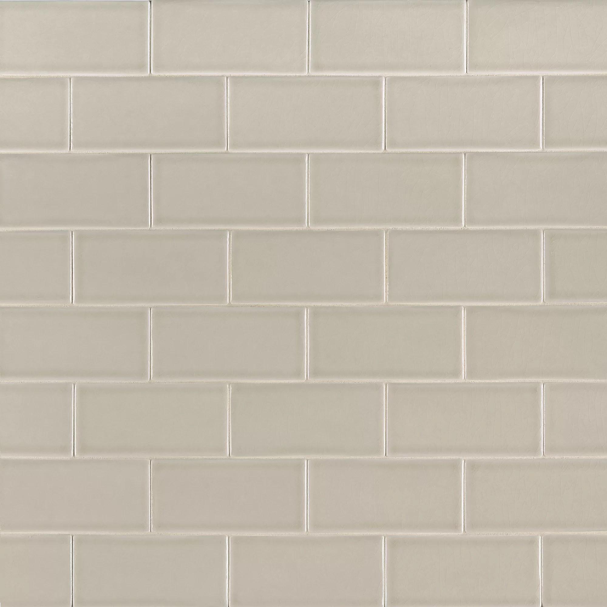 msi portico pearl 3 x 6 ceramic subway tile wayfair