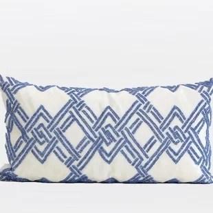 beaded lumbar pillow