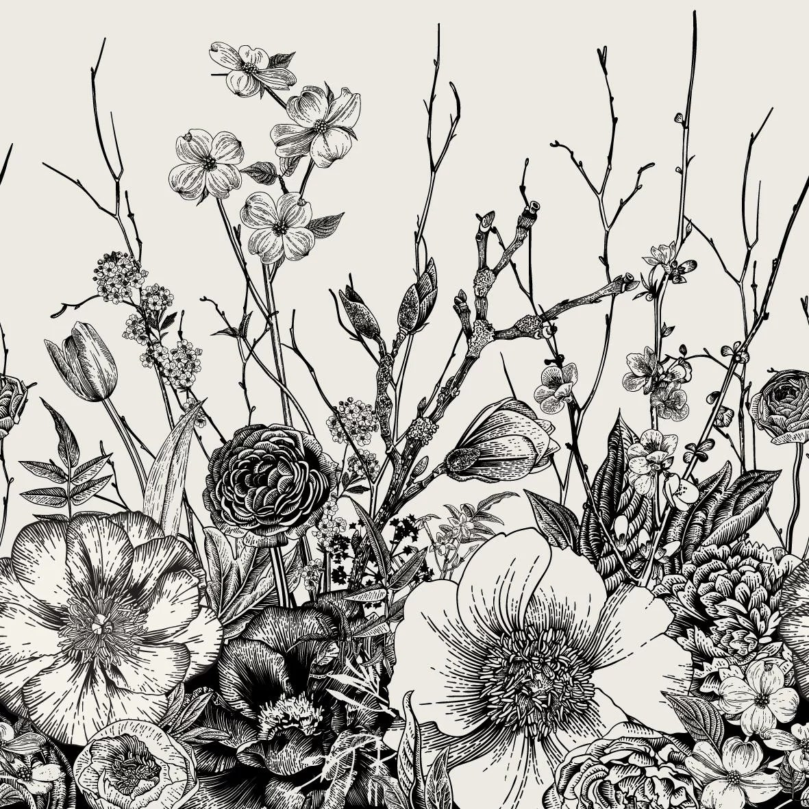 Bungalow Rose Lenworth Removable Vintage Floral Mix 4 17 L X 50 W Peel And Stick Wallpaper Roll Wayfair