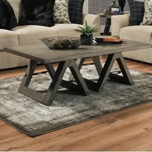 eliza sawhorse coffee table