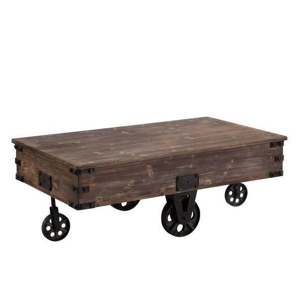 rustic coffee table wheels