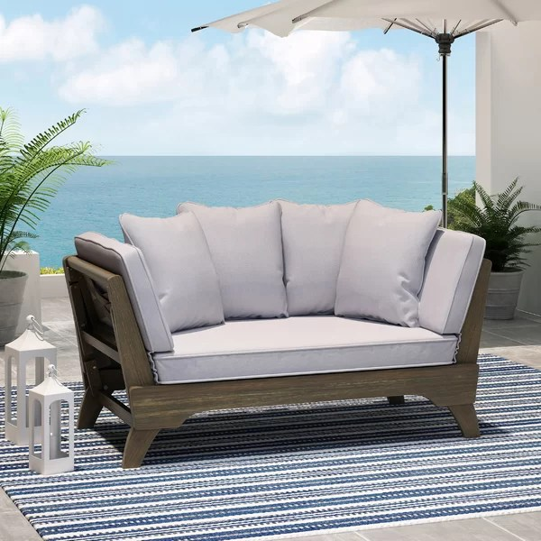 alamo 82 wide outdoor patio daybed with cushions