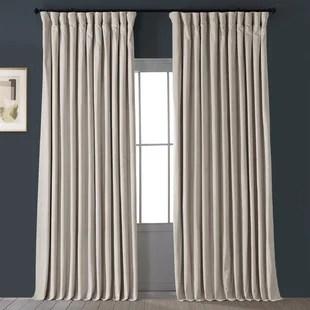 signature blackout double wide velvet rod pocket single curtain panel