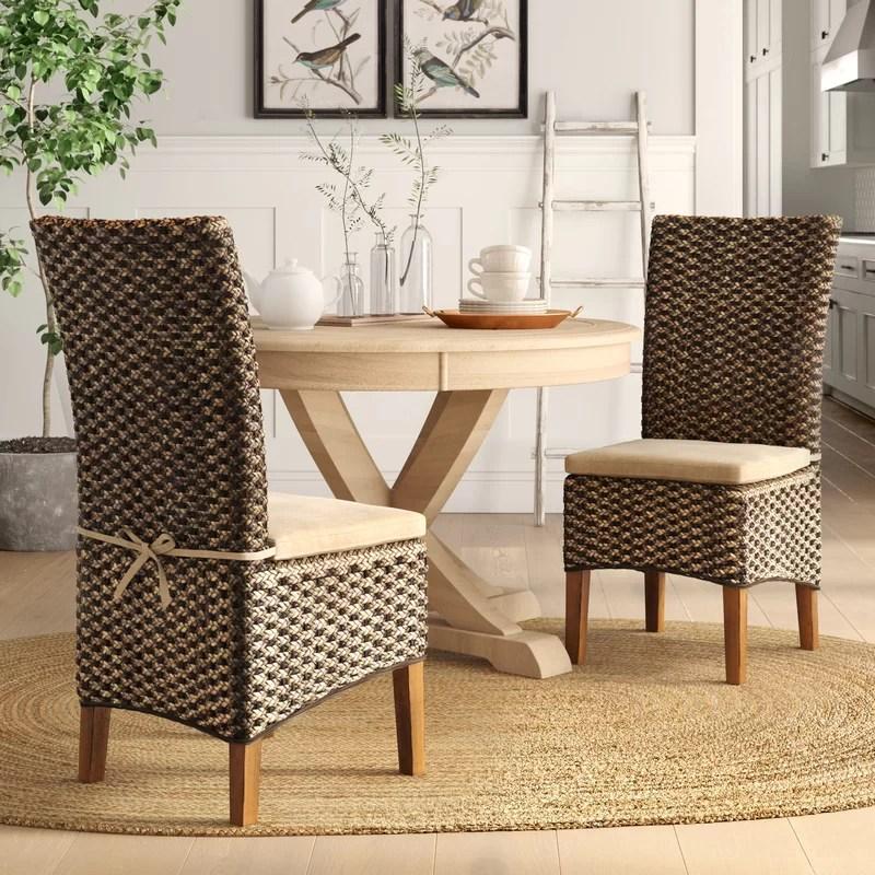 Alcester Wicker/Rattan Side Chair in Hazelnut (Set of 2)