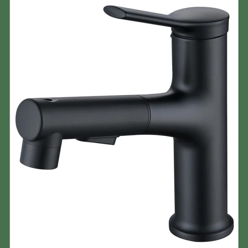single handle pull out single hole bathroom faucet