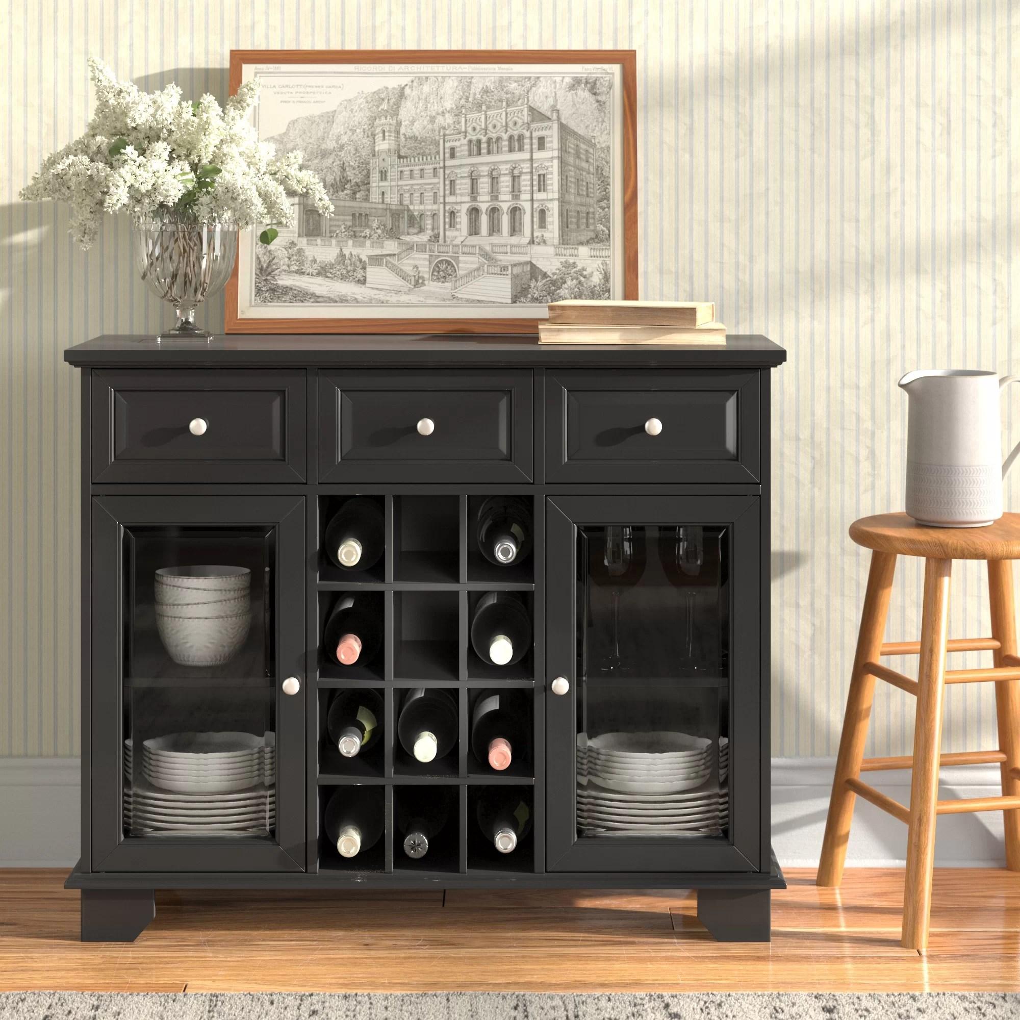 rosenkranz wood server with 12 bottle floor wine cabinet