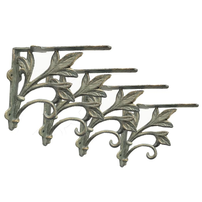 Leaf Design Shelf Bracket (Set of 4)