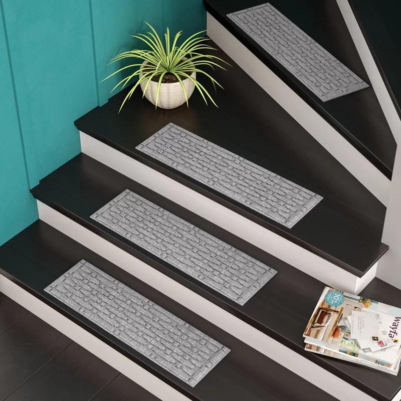 Tucker Murphy™ Pet Beauvais Mesh Stair Tread Reviews Wayfair | Wayfair Carpet Runners For Stairs | Tucker Murphy | Brown Beige | Hallway Carpet | Wool Rug | Wall Carpet