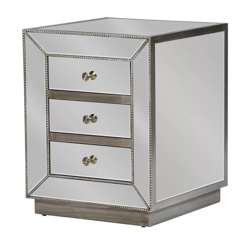 baxton studio 3 drawer nightstand