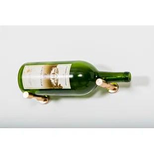 vino 1 bottle wall mounted wine bottle rack