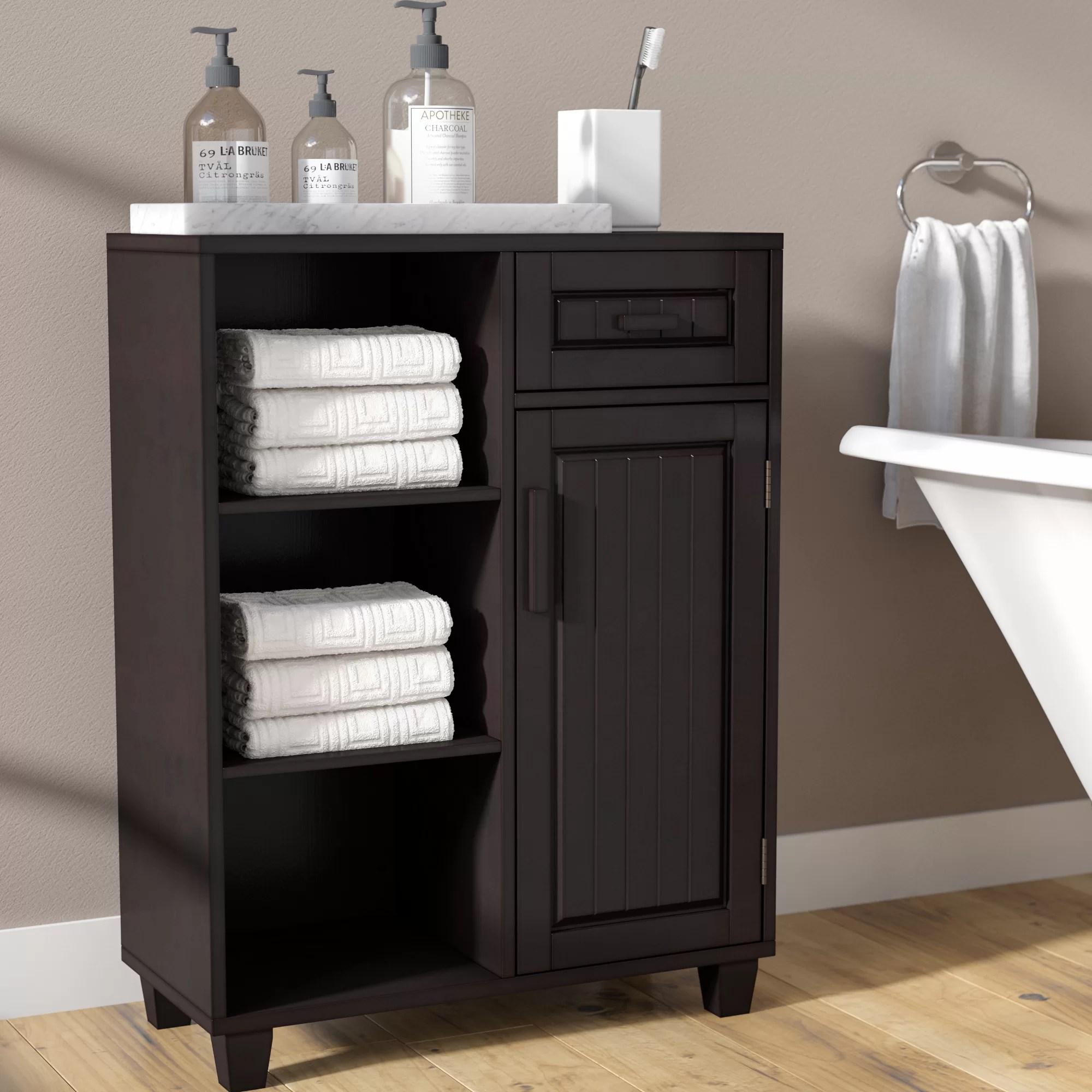 Espresso Wood Bathroom Cabinets Shelving You Ll Love In 2020 Wayfair