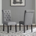 Charlton Home Evelin Tufted Upholstered Parsons Dining Chair Reviews Wayfair
