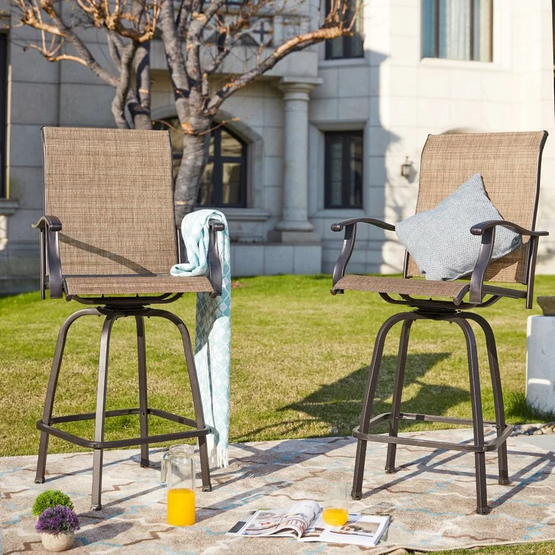 harkey outdoor sling metal 30 patio bar stool