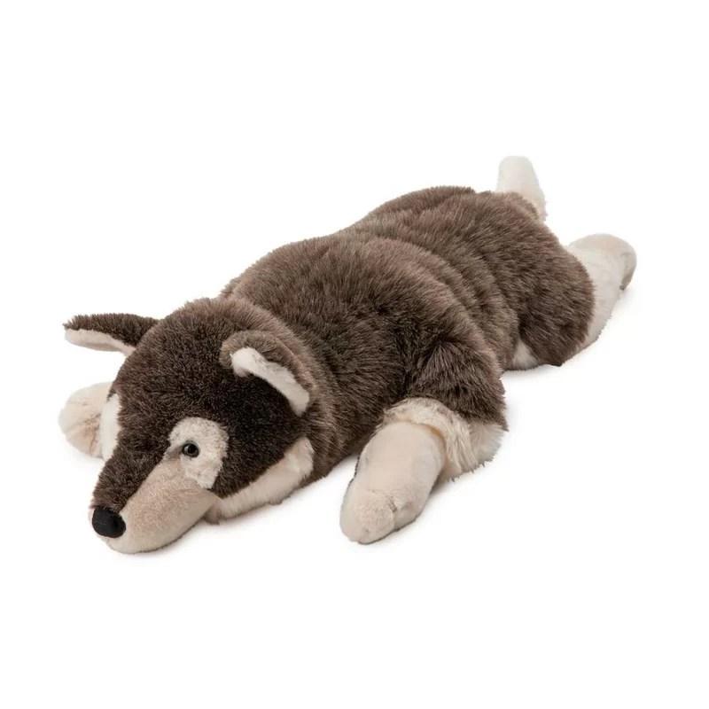 husky dog plush body pillow