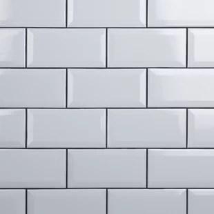 crown heights 3 x 6 beveled ceramic subway tile