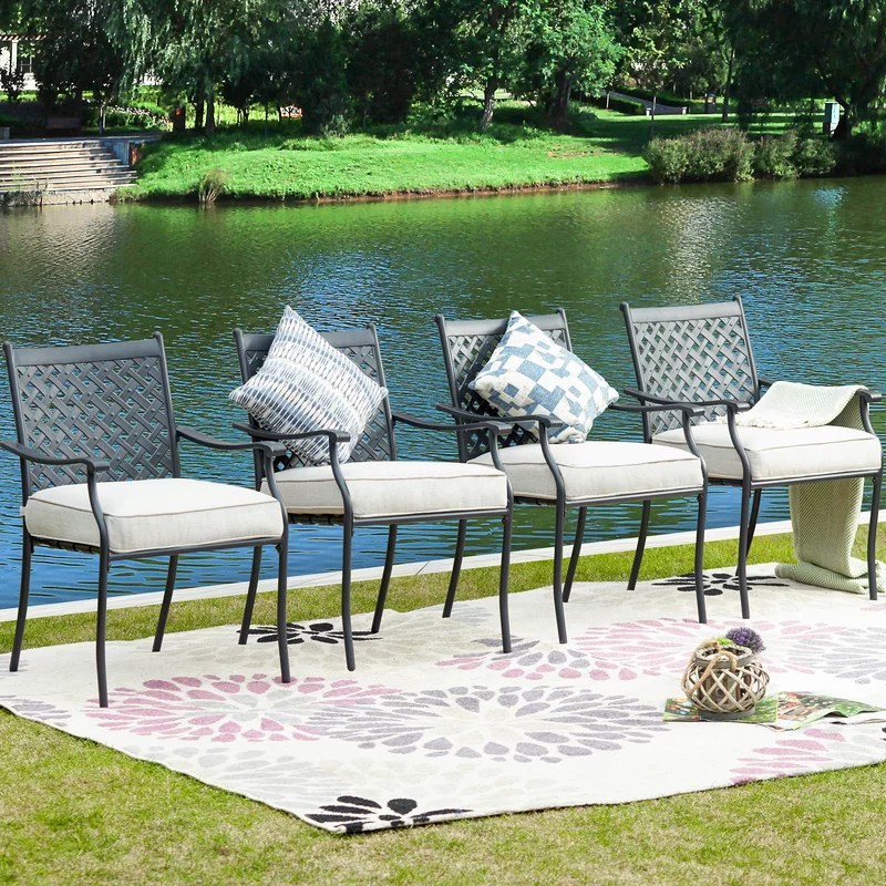 spiva patio dining chair with cushion