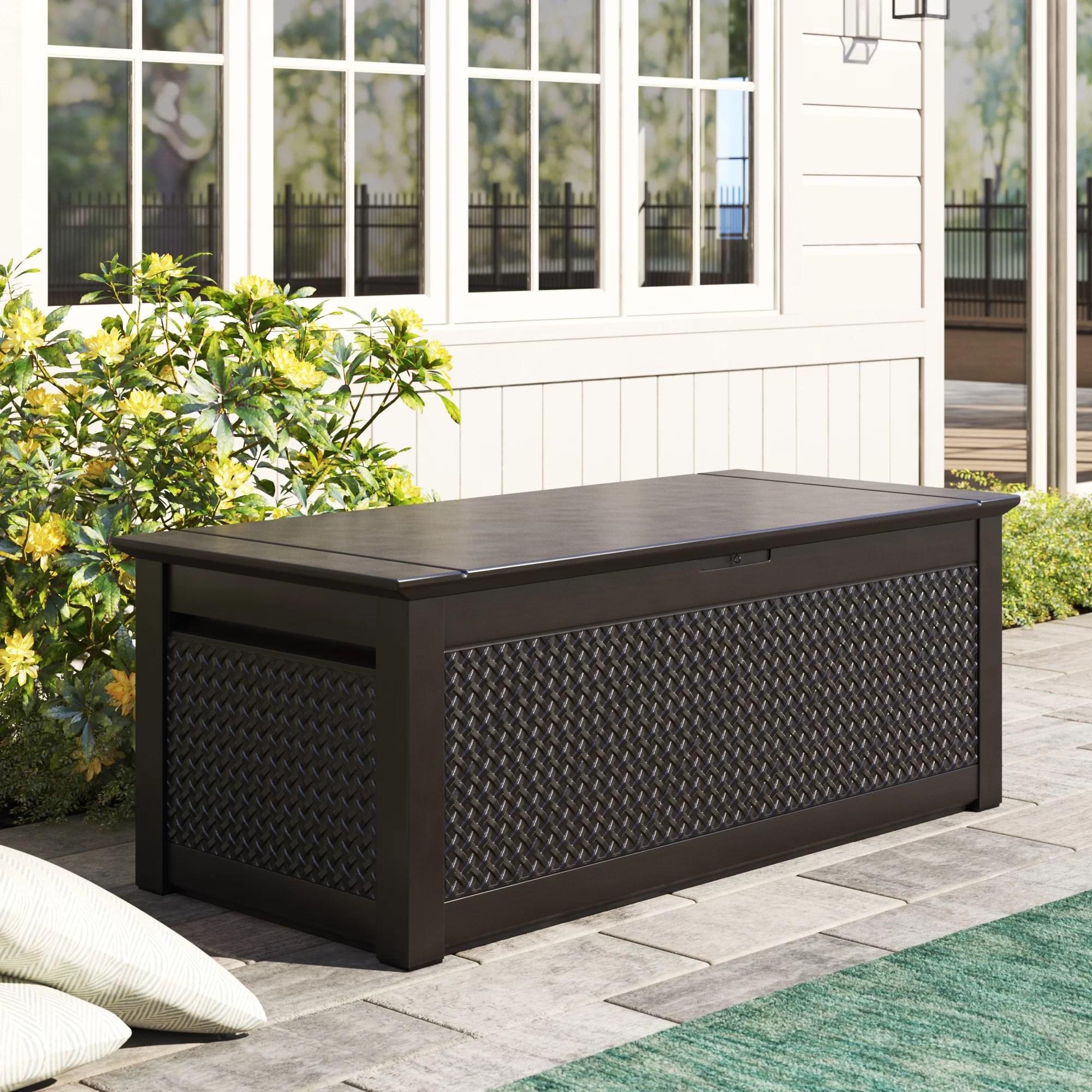 patio chic 136 gallon resin deck box