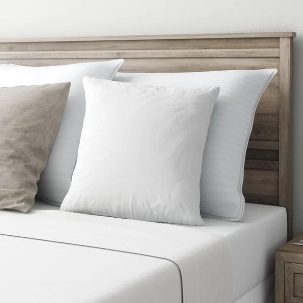 fluffy white pillow