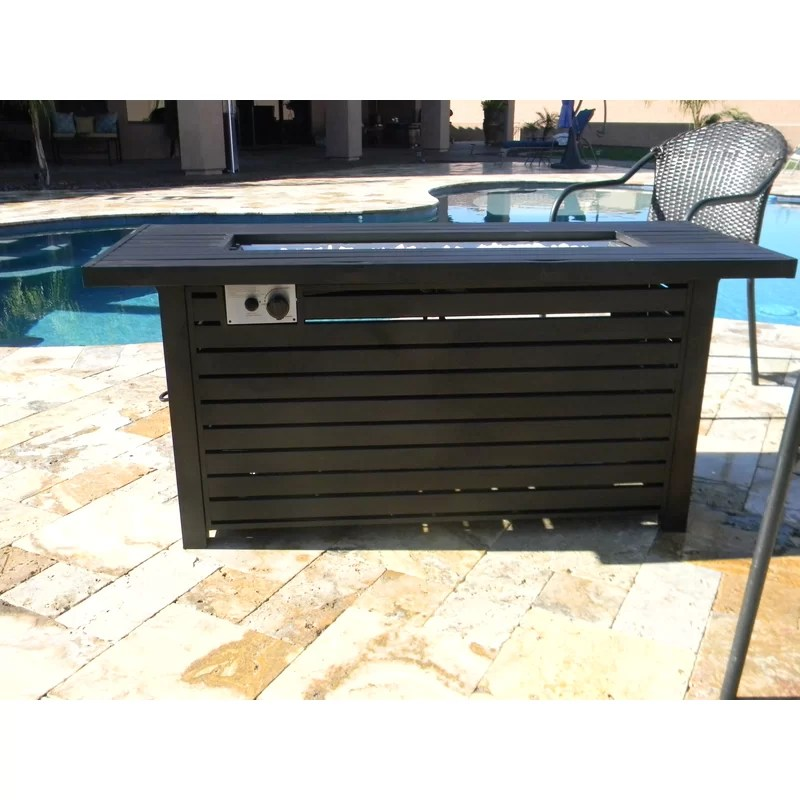 sink outdoor aluminum propane fire pit table
