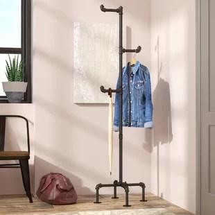 maegan industrial coat rack