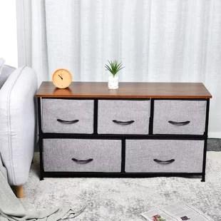 kleist 2 tier fabric storage organizer 5 drawer dresser