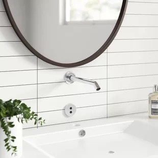 purist wall mount commercial bathroom sink faucet trim with 8 1 4 35 degree spout and insight technology