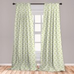 East Urban Home Ambesonne Green Leaf Window Curtains Simple Pattern With Abstract Leaves Ecology Environment Theme Lightweight Decorative Panels Set Of 2 With Rod Pocket 56 X 84 Apple Green White Wayfair
