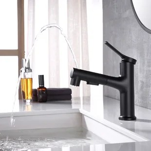 three functions pull out single hole bathroom faucet