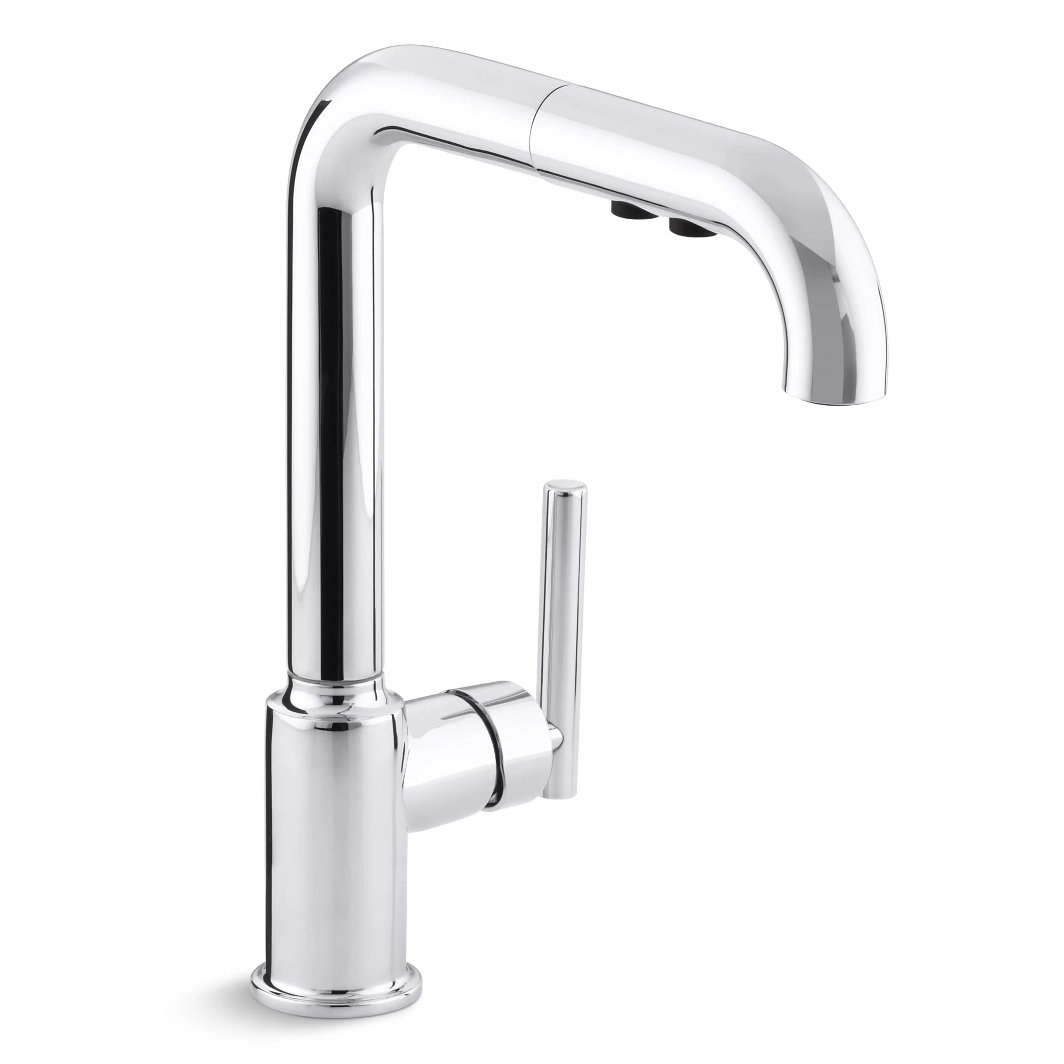 purist single hole kitchen sink faucet with 8 pullout spout with promotion