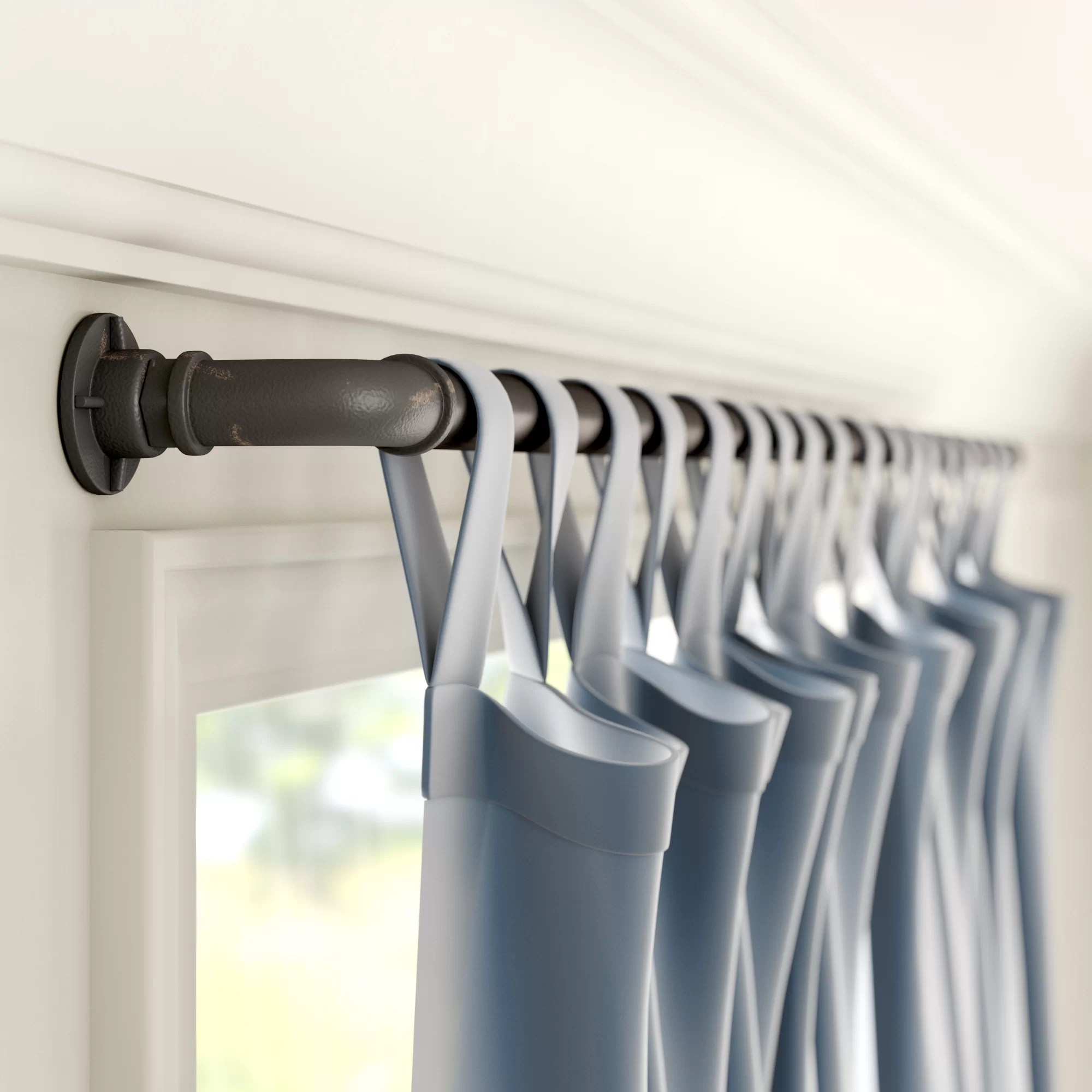 oil rubbed rod curtain hardware