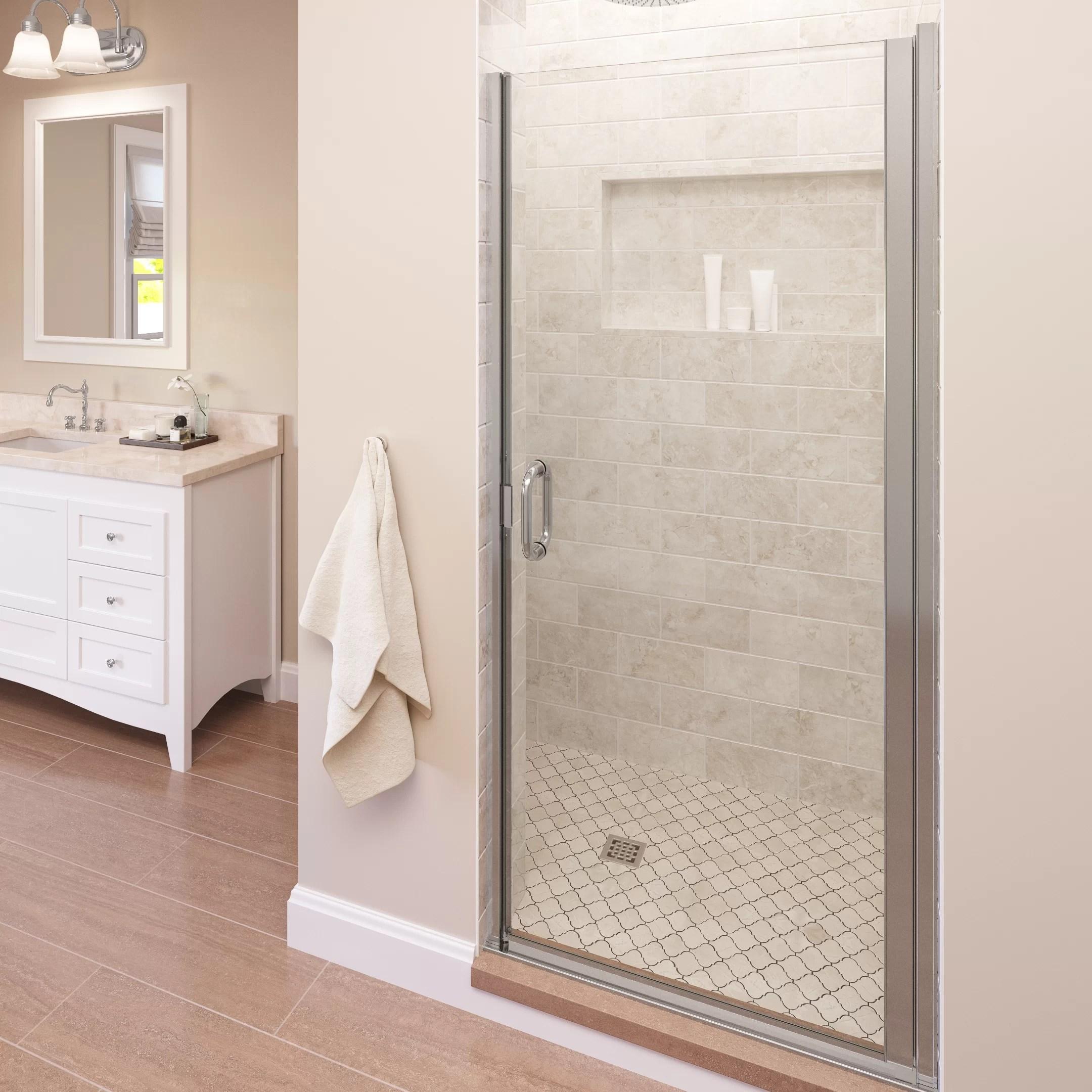 Infinity 34 X 76 Pivot Semi Frameless Shower Door