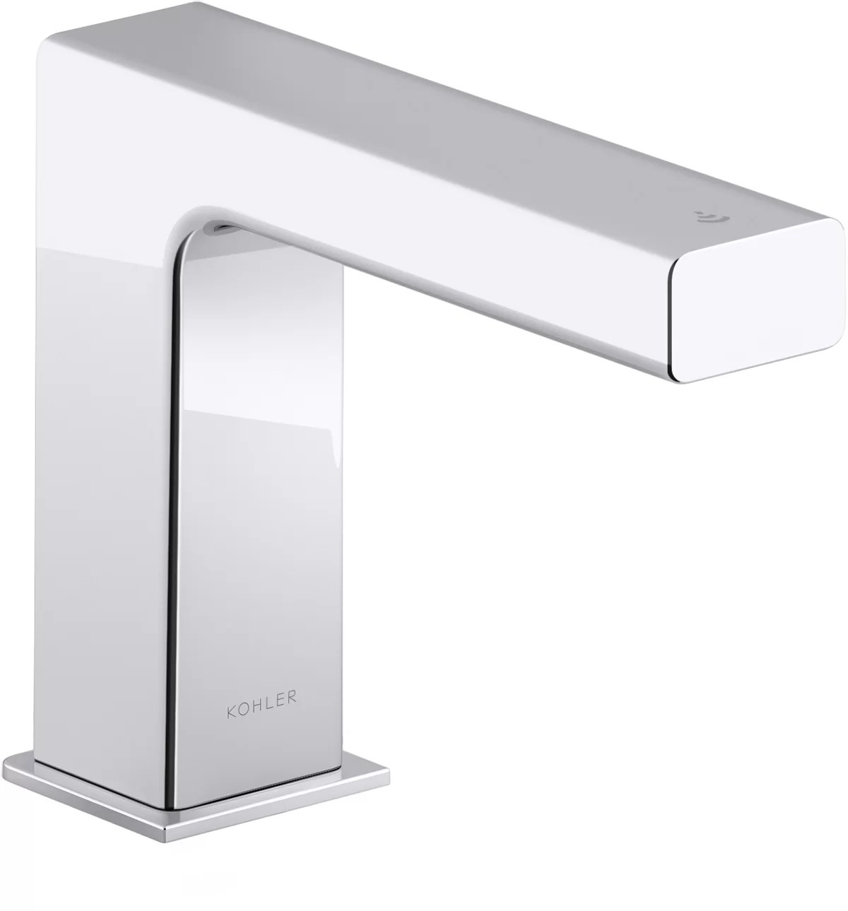 strayt touchless bathroom sink faucet with kinesis sensor technology ac powered