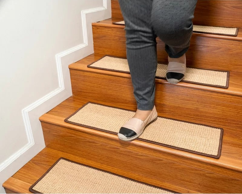 Latitude Run® Borrello Catania Serged Border Handmade Stair Tread   Wayfair Stair Tread Rugs   Bullnose Carpet   Tucker Murphy   Slip Backing   Non Slip Stair   Skid Resistant