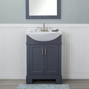 24 inch bathroom vanities you'll love | wayfair