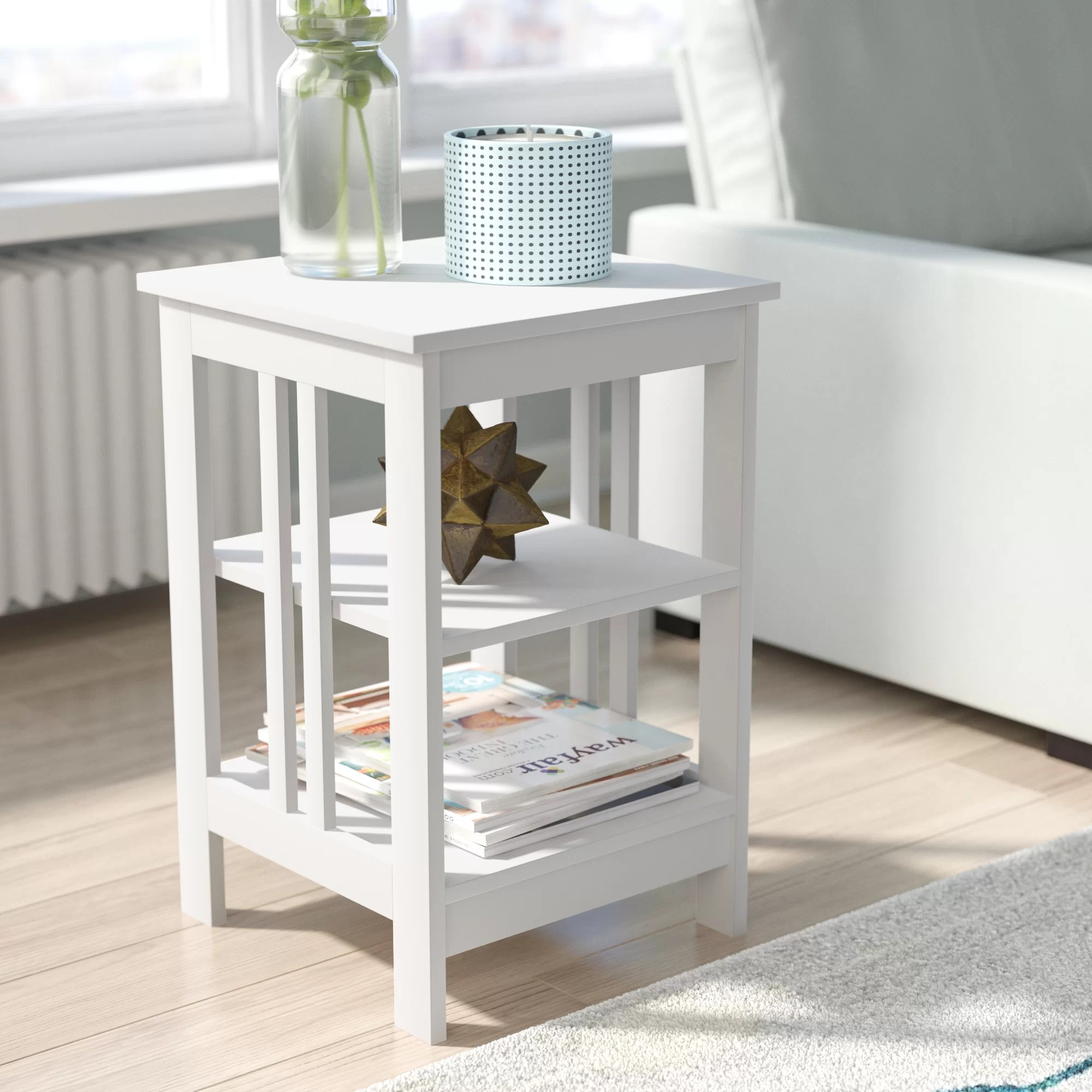 small white end side tables you ll