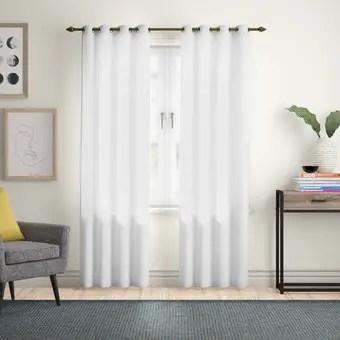 thermal grommet single curtain panel