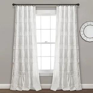burkhalter solid semi sheer curtain panels set of 2