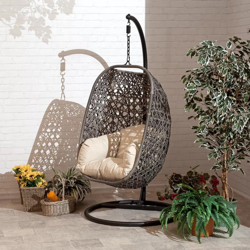 wallis cocoon patio chair with cushion