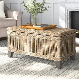 madewell rattan coffee table with storage